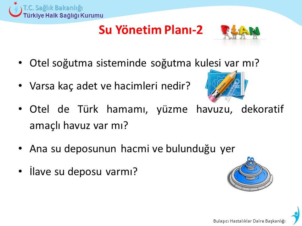 Bulaşıcı Hastalıklar Daire Başkanlığı Türkiye Halk Sağlığı Kurumu T.C. Sağlık Bakanlığı Su Yönetim Planı-2 Otel soğutma sisteminde soğutma kulesi var