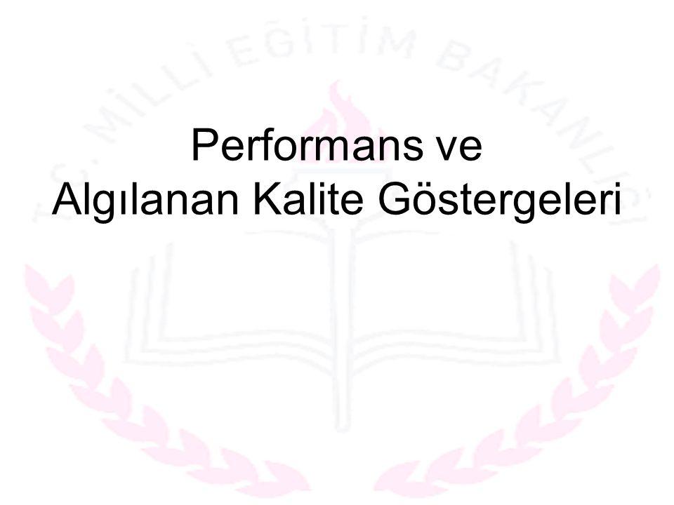 Performans ve Algılanan Kalite Göstergeleri
