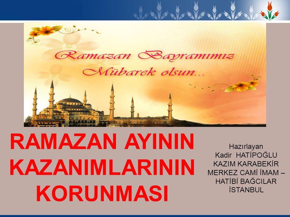 İşte geldik bir rahmet ayının sonuna ve Bayrama İbadetlere olan ihtiyacımız veya sorumluluklarımız, sadece Ramazan ayına mahsus değildir.