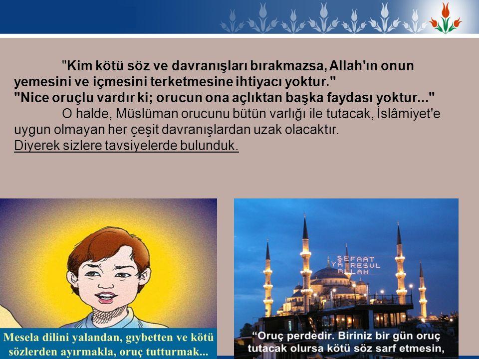 İslâmiyet bir yardımlaşma dinidir.Ramazan Yardımlaşama ayıdır dedik.