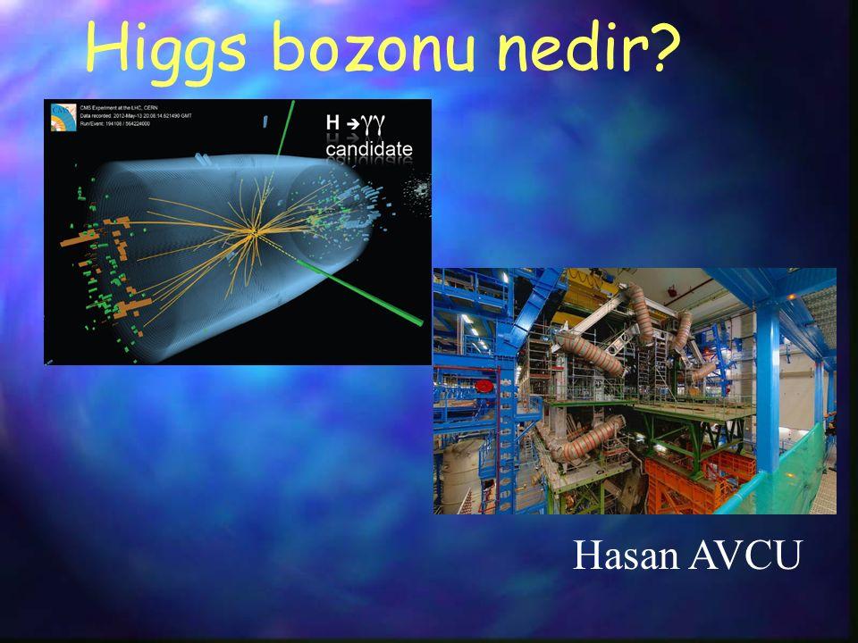 Higgs bozonu nedir? Hasan AVCU