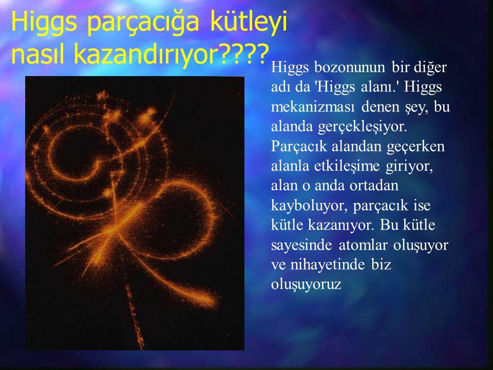 Higgs parçacığa kütleyi nasıl kazandırıyor .