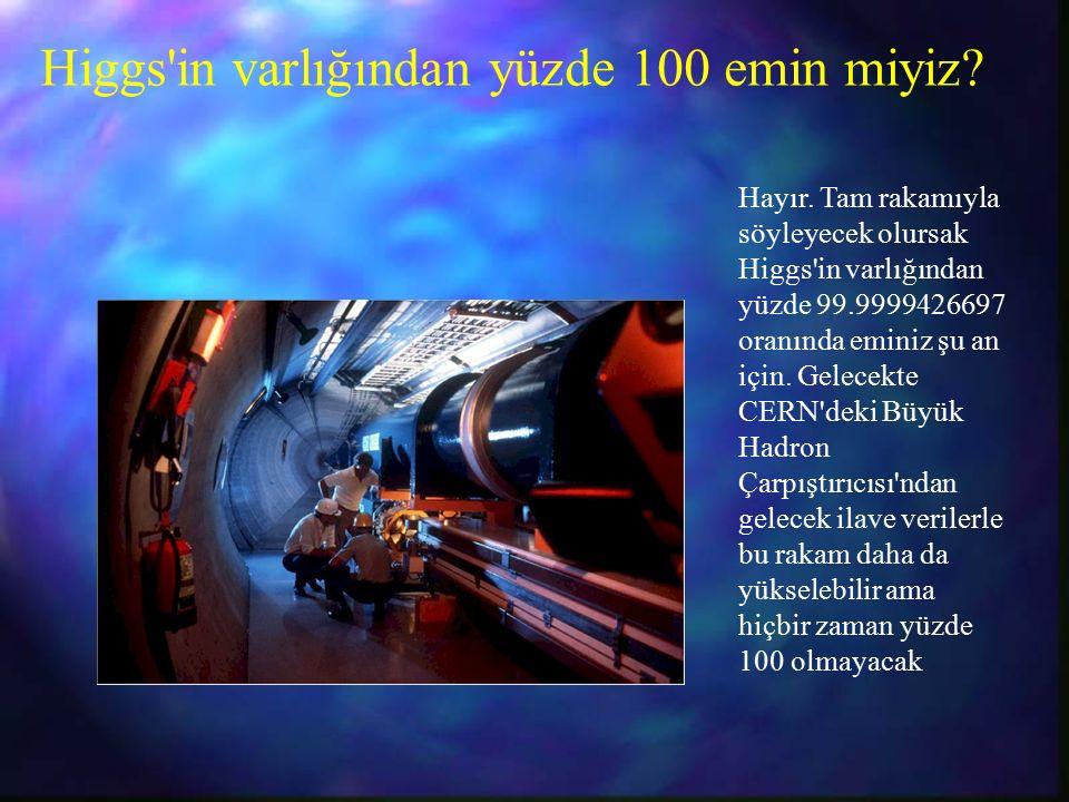 Higgs in varlığından yüzde 100 emin miyiz. Hayır.