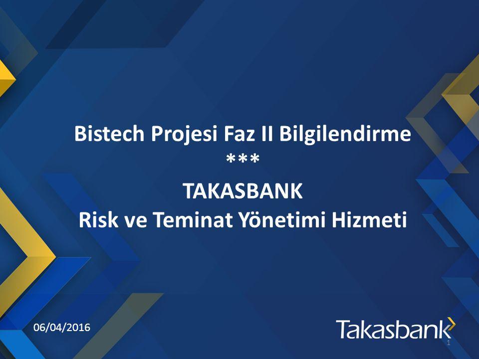 06/04/2016 Bistech Projesi Faz II Bilgilendirme *** TAKASBANK Risk ve Teminat Yönetimi Hizmeti 1