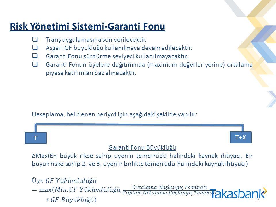 Risk Yönetimi Sistemi-Garanti Fonu 17 T T+X