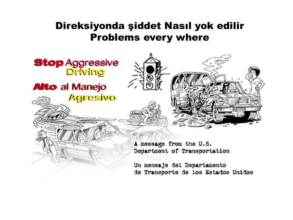 Direksiyonda şiddet Nasıl yok edilir Problems every where
