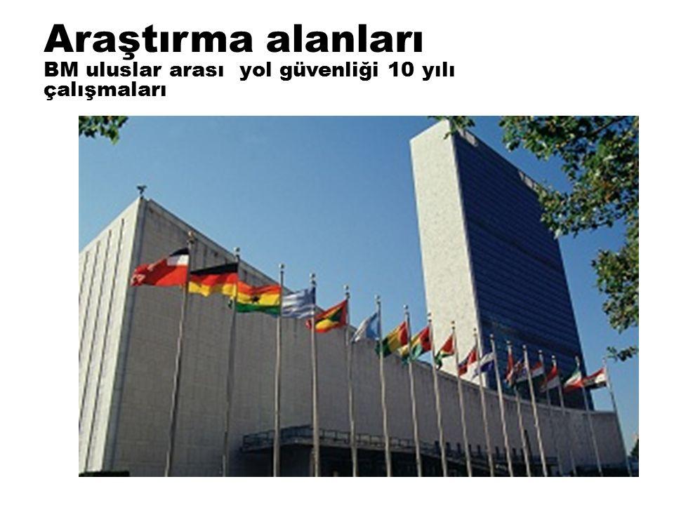 Araştırma alanları BM uluslar arası yol güvenliği 10 yılı çalışmaları