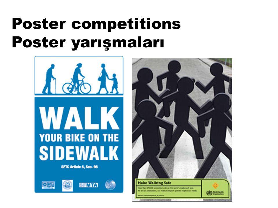 Poster competitions Poster yarışmaları
