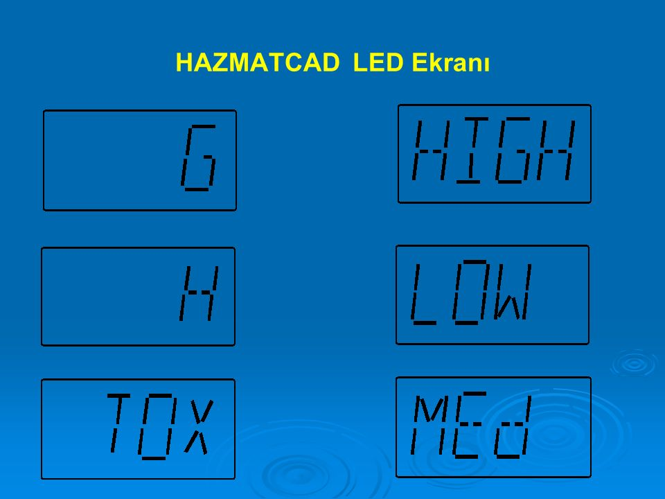 HAZMATCAD LED Ekranı