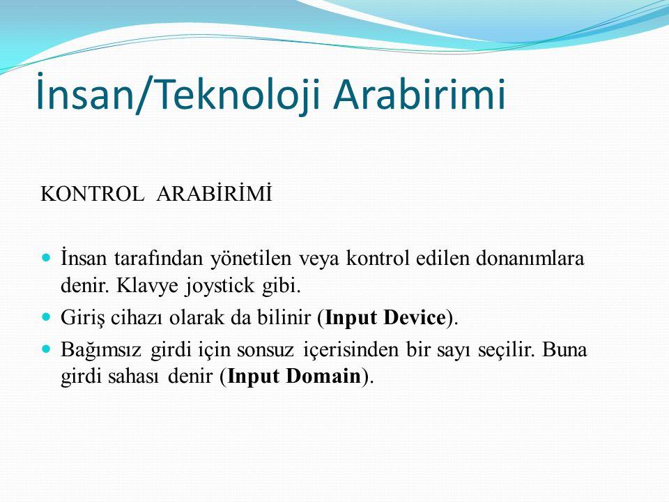 Kontrol Arabiriminin Elemanları En yaygın dolaylı seçim metodu TARAMA'dır.