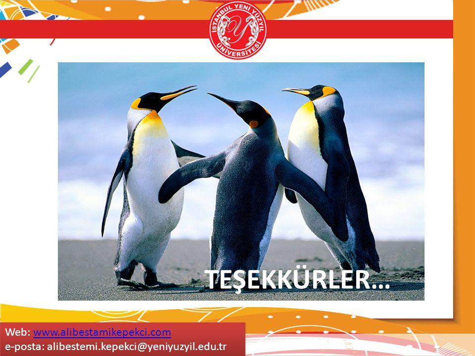 TEŞEKKÜRLER… Web: www.alibestamikepekci.comwww.alibestamikepekci.com e-posta: alibestemi.kepekci@yeniyuzyil.edu.tr Web: www.alibestamikepekci.comwww.a
