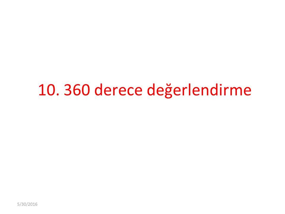 10. 360 derece değerlendirme 5/30/2016