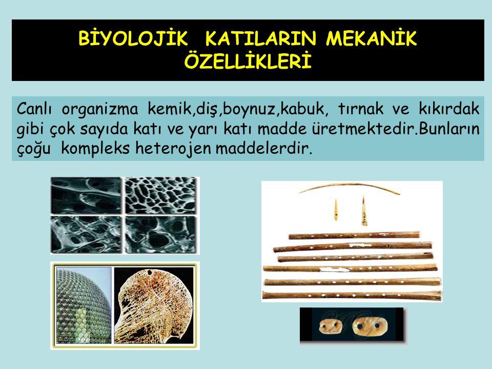 Canlı organizma kemik,diş,boynuz,kabuk, tırnak ve kıkırdak gibi çok sayıda katı ve yarı katı madde üretmektedir.Bunların çoğu kompleks heterojen madde