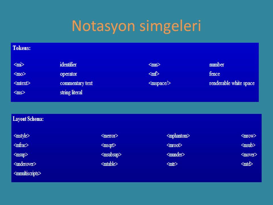 Notasyon simgeleri