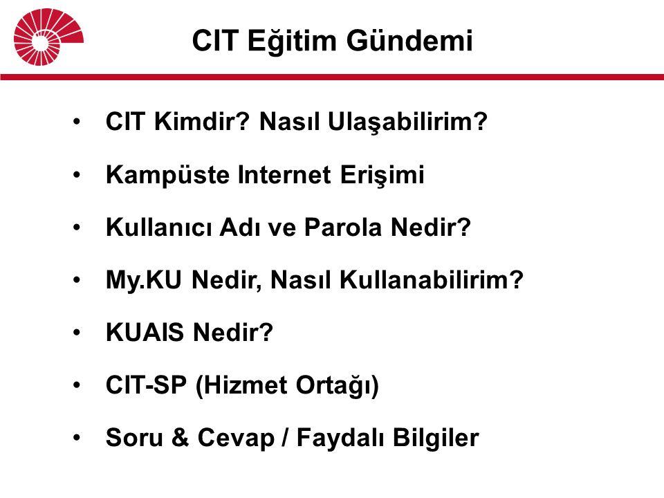 CIT Eğitim Gündemi CIT Kimdir. Nasıl Ulaşabilirim.
