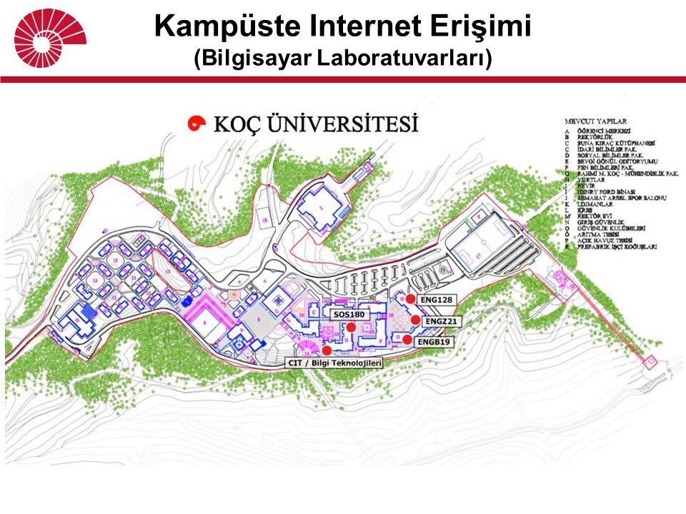 Kampüste Internet Erişimi (Bilgisayar Laboratuvarları)