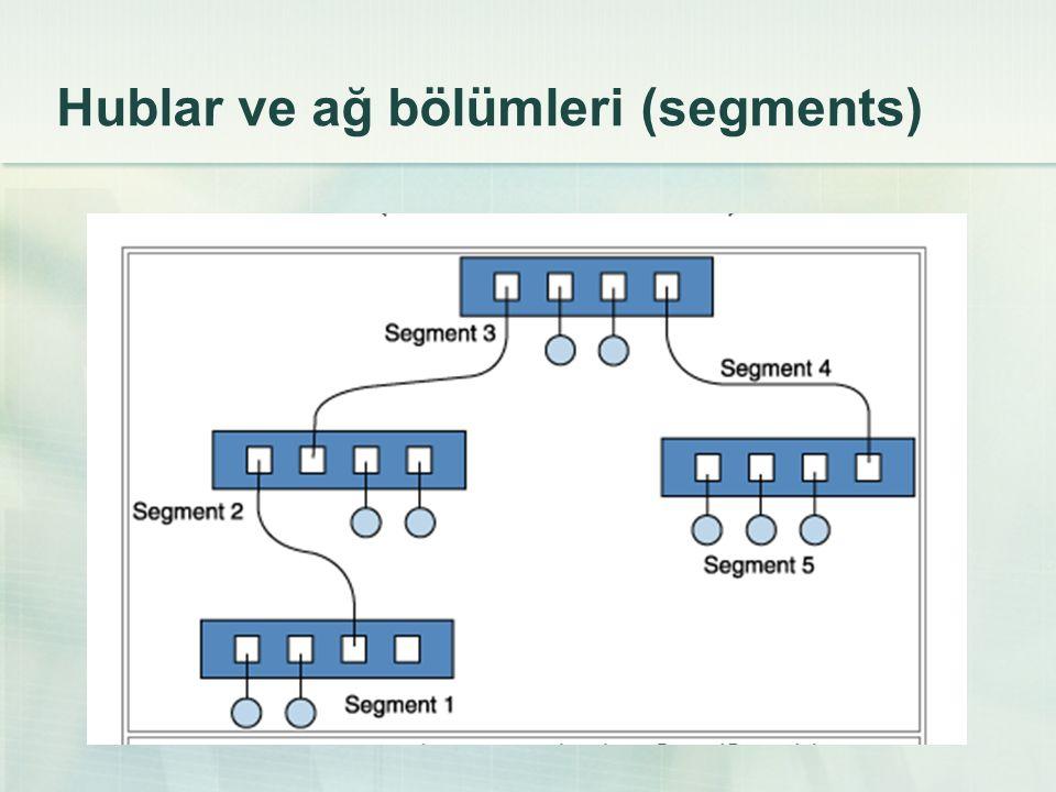 Hublar ve ağ bölümleri (segments)