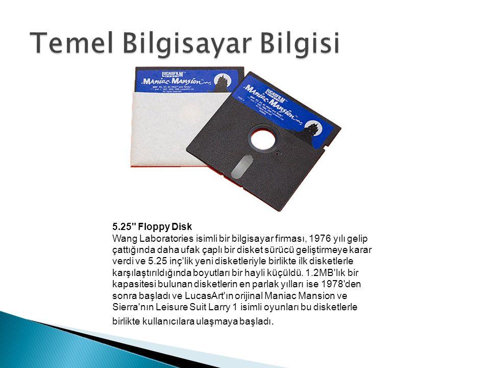 5.25 Floppy Disk Wang Laboratories isimli bir bilgisayar firması, 1976 yılı gelip çattığında daha ufak çaplı bir disket sürücü geliştirmeye karar verdi ve 5.25 inç lik yeni disketleriyle birlikte ilk disketlerle karşılaştırıldığında boyutları bir hayli küçüldü.