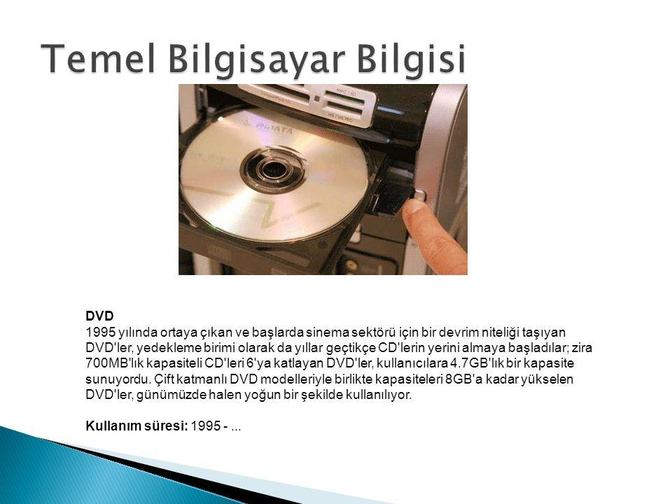 DVD 1995 yılında ortaya çıkan ve başlarda sinema sektörü için bir devrim niteliği taşıyan DVD ler, yedekleme birimi olarak da yıllar geçtikçe CD lerin yerini almaya başladılar; zira 700MB lık kapasiteli CD leri 6 ya katlayan DVD ler, kullanıcılara 4.7GB lık bir kapasite sunuyordu.