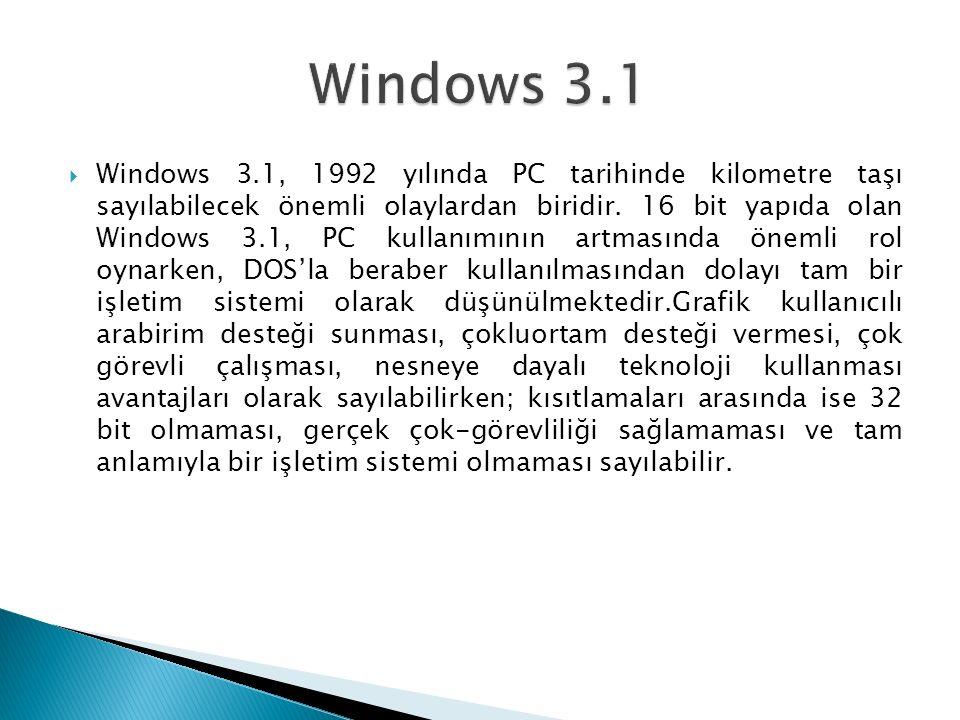  Windows 3.1, 1992 yılında PC tarihinde kilometre taşı sayılabilecek önemli olaylardan biridir.