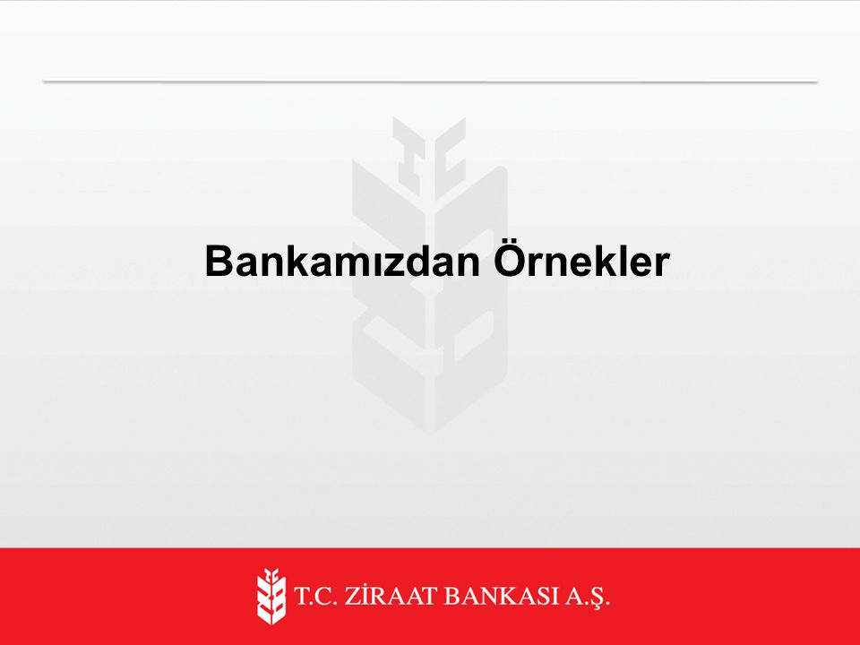 Bankamızdan Örnekler