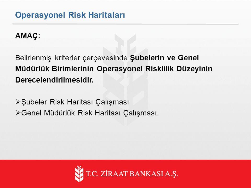 AMAÇ: Belirlenmiş kriterler çerçevesinde Şubelerin ve Genel Müdürlük Birimlerinin Operasyonel Risklilik Düzeyinin Derecelendirilmesidir.