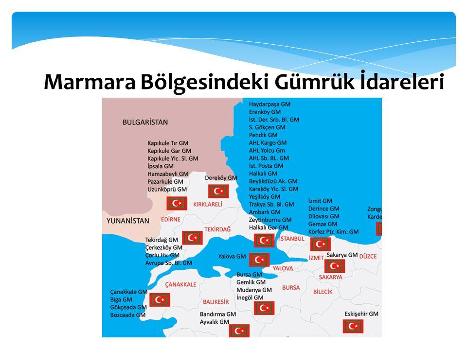 Marmara Bölgesindeki Gümrük İdareleri