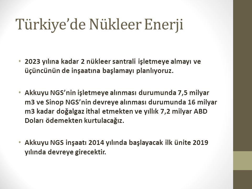 Türkiye'de Nükleer Enerji 2023 yılına kadar 2 nükleer santrali işletmeye almayı ve üçüncünün de inşaatına başlamayı planlıyoruz. Akkuyu NGS'nin işletm