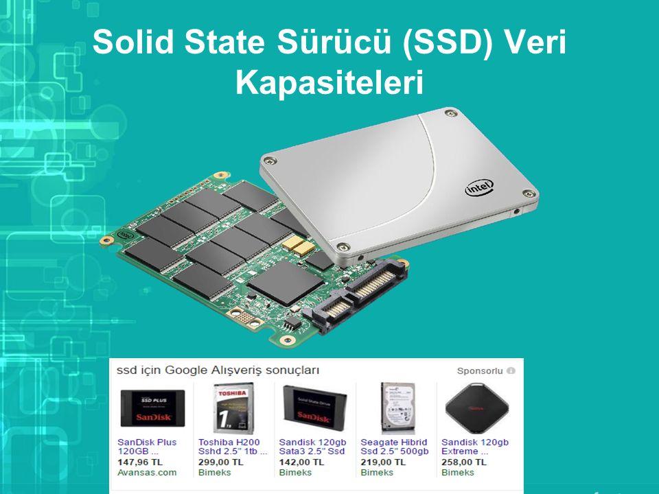 Solid State Sürücü (SSD) Veri Kapasiteleri