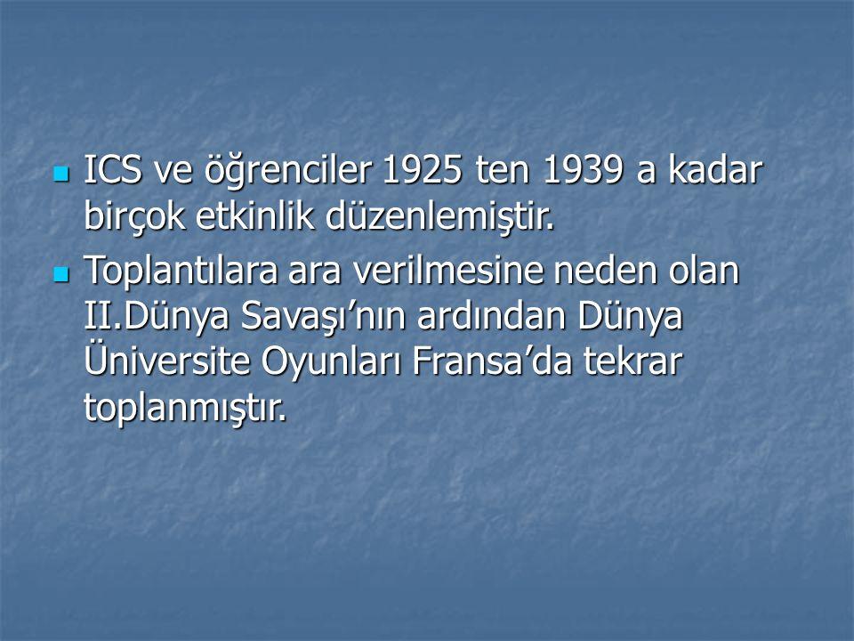 ICS ve öğrenciler 1925 ten 1939 a kadar birçok etkinlik düzenlemiştir. ICS ve öğrenciler 1925 ten 1939 a kadar birçok etkinlik düzenlemiştir. Toplantı