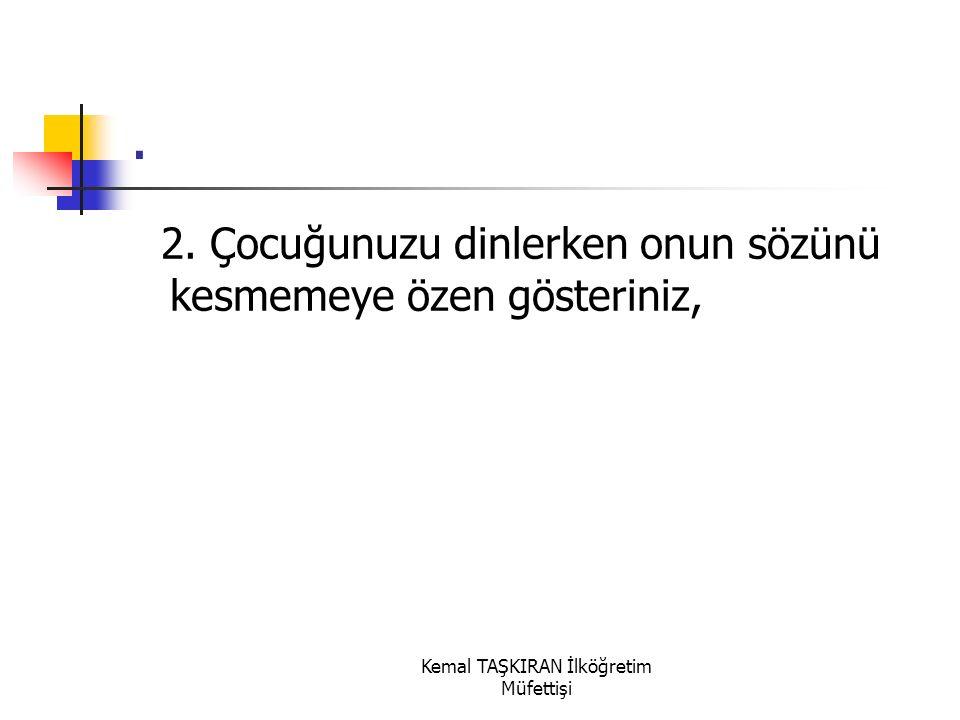 Kemal TAŞKIRAN İlköğretim Müfettişi. 1.