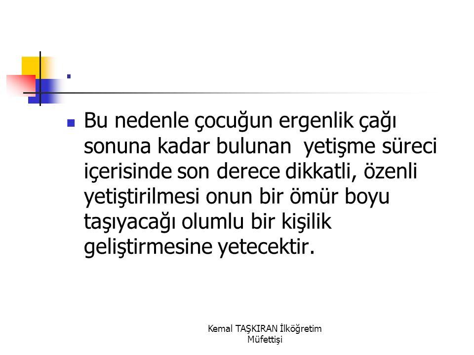 Kemal TAŞKIRAN İlköğretim Müfettişi.