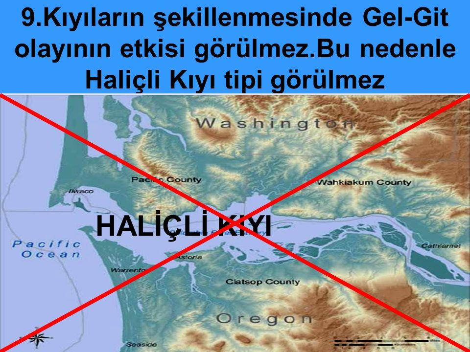 8.Buzulların oluşturduğu yerşekilleri yaygın değildir.Ancak yüksek kesimlerde rastlanır