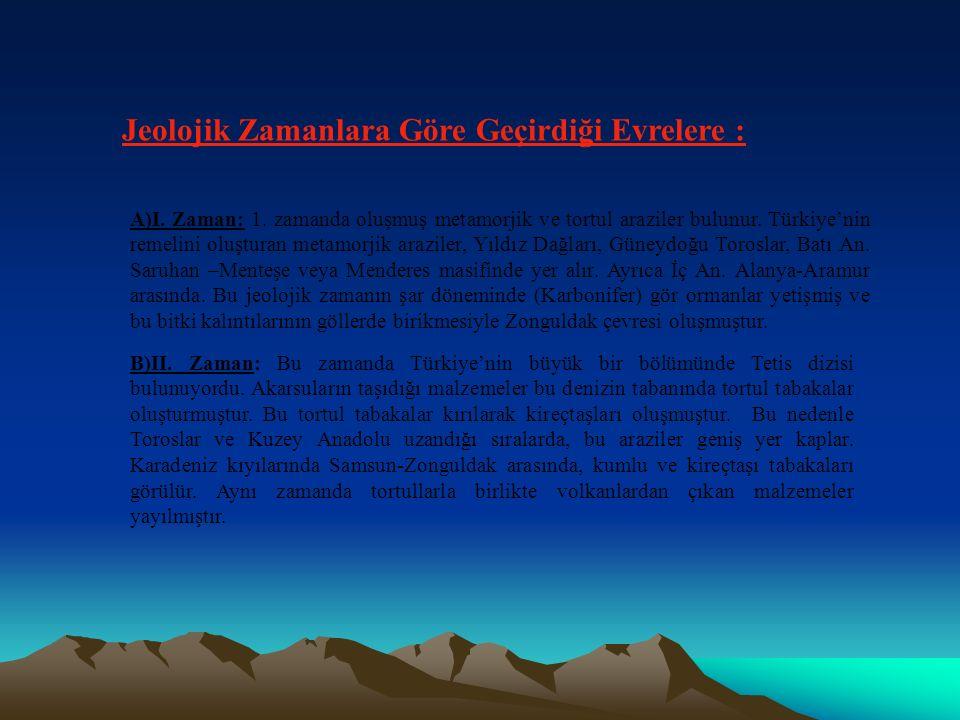 TÜRKİYE NİN YERŞEKİLLER Türkiye Alp Kıvrım kuşağı içindedir.