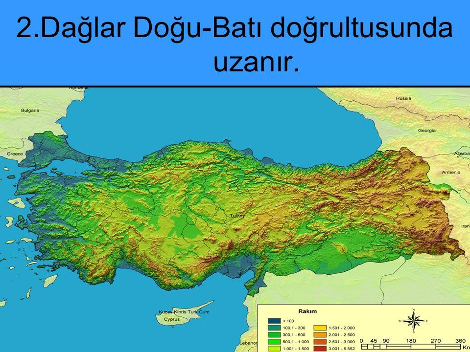 B)İç Anadolu bölgesi Volkan Dağları : Erciyes: 3 o 117m dir.