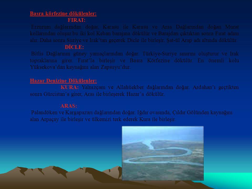 Marmara Denize Dökülenler : Susurluk: İç Batı Anadolu'da Şaphane Dağlarında doğar.