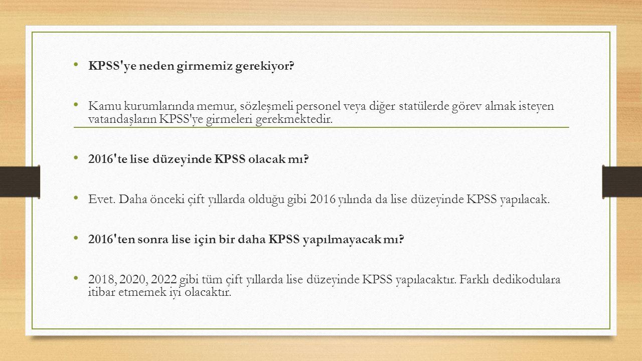 KPSS ye neden girmemiz gerekiyor.
