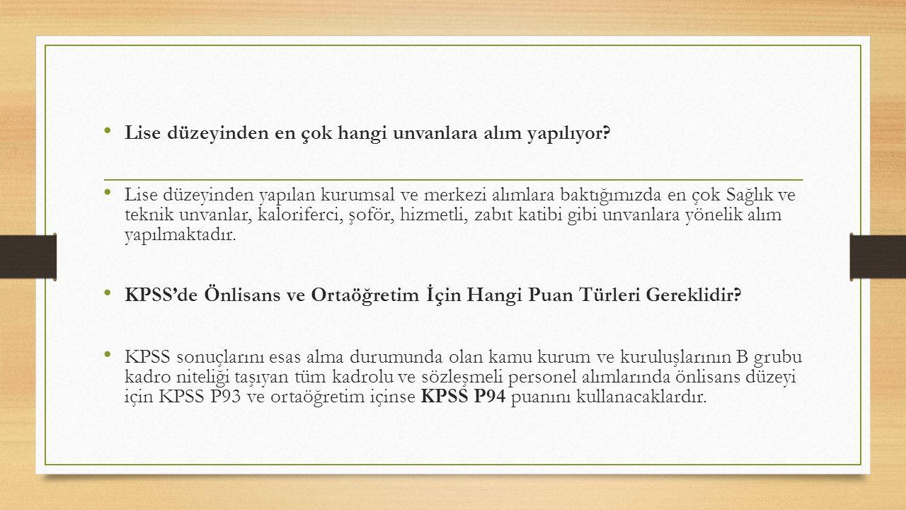 KPSS'de Adaylar Hangi Konulardan Sorumludur.