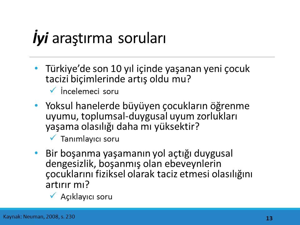 İyi araştırma soruları Türkiye'de son 10 yıl içinde yaşanan yeni çocuk tacizi biçimlerinde artış oldu mu.