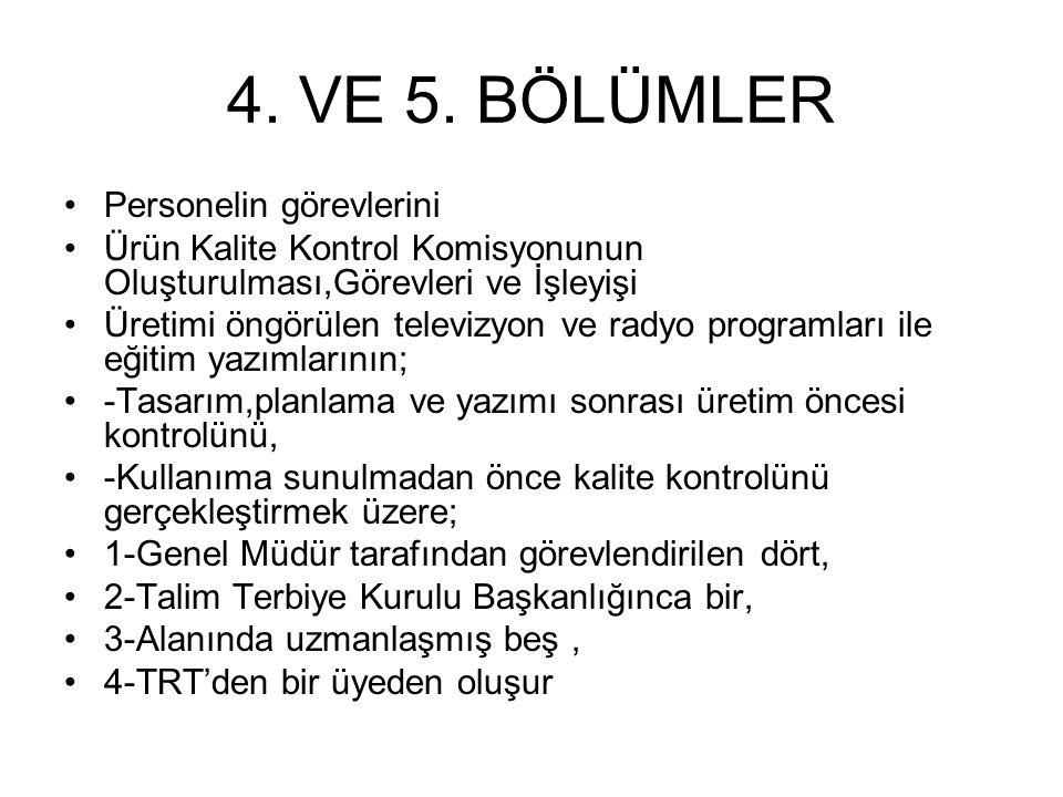 4. VE 5.