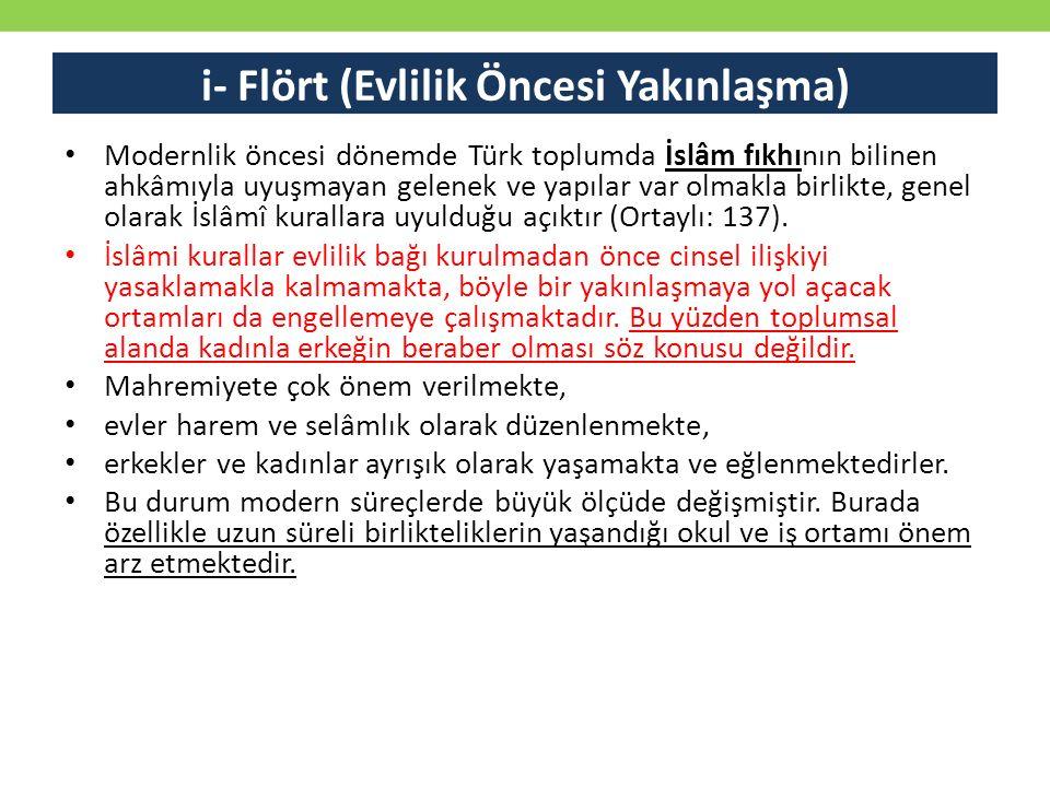 Modernlik öncesi dönemde Türk toplumda İslâm fıkhının bilinen ahkâmıyla uyuşmayan gelenek ve yapılar var olmakla birlikte, genel olarak İslâmî kuralla