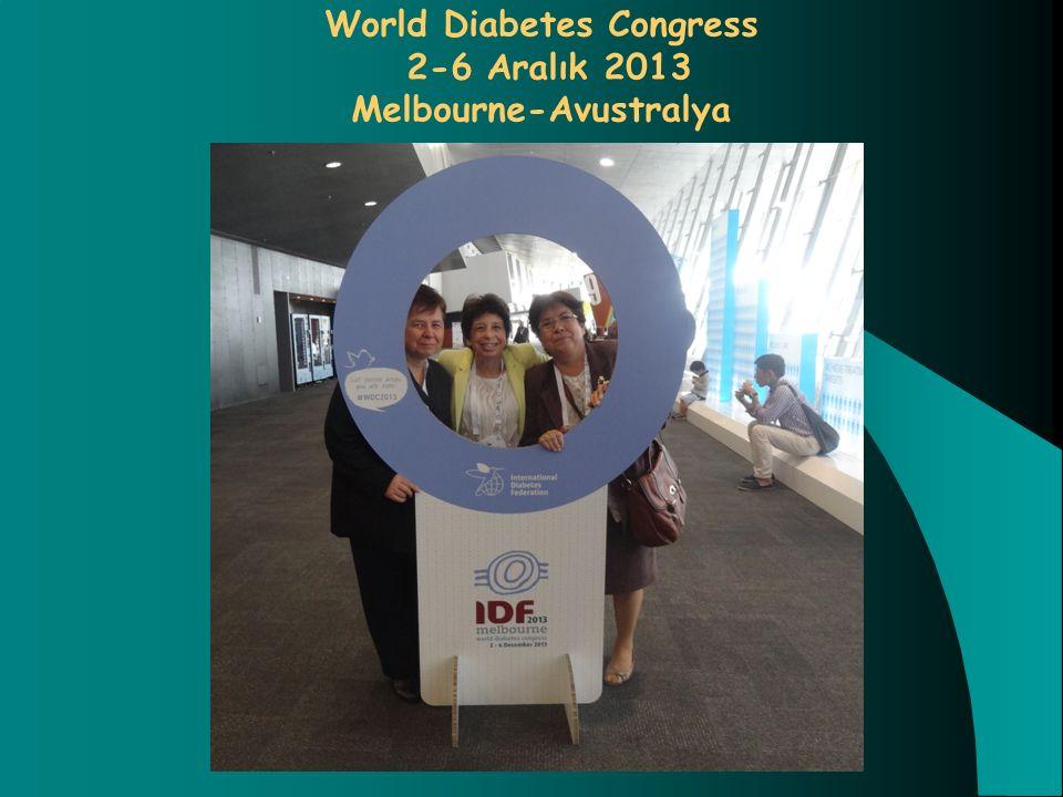 World Diabetes Congress 2-6 Aralık 2013 Melbourne-Avustralya
