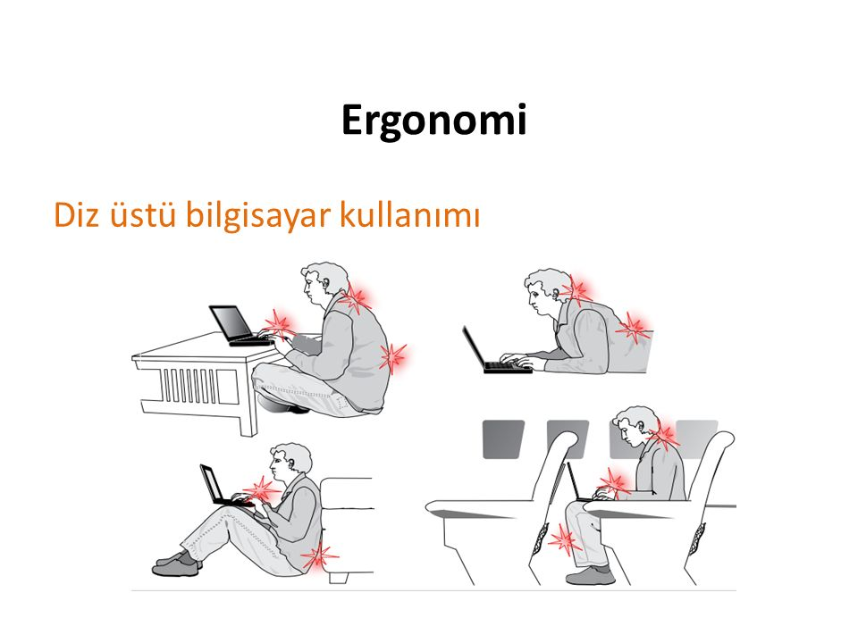 Ergonomi Diz üstü bilgisayar kullanımı