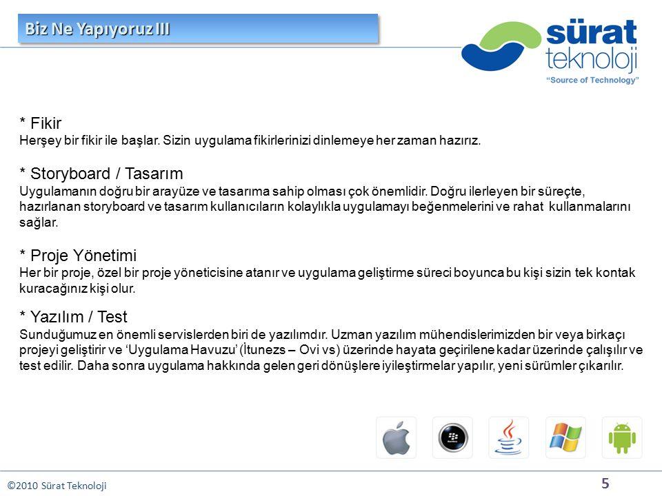 5 ©2010 Sürat Teknoloji * Fikir Herşey bir fikir ile başlar.