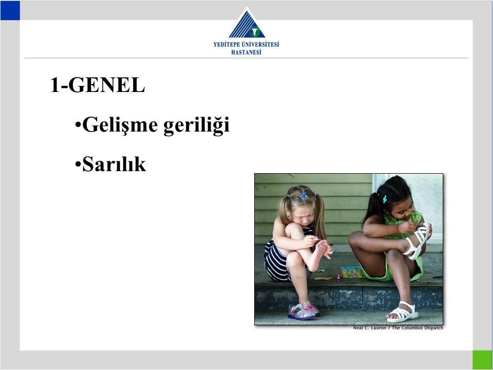 1-GENEL Gelişme geriliği Sarılık