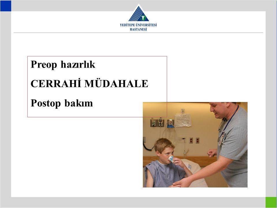 Cerrahi yaklaşım bir ekip işidir; –Yenidoğan Uzmanı –Çocuk Cerrahı –Anestezist