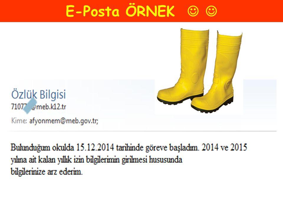 E-Posta ÖRNEK