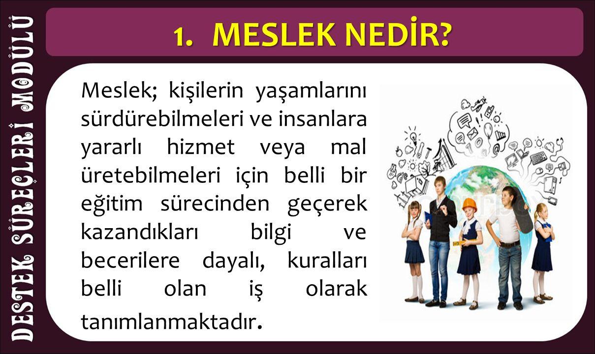 6.MESLEK SEÇİMİ ve LİSELER ARASIDAKİ İLİŞKİ Özel yetenek gerektiren programların sınavları ile seçme ve yerleştirme işlemleri yükseköğretim kurumlarınca yapılmaktadır.