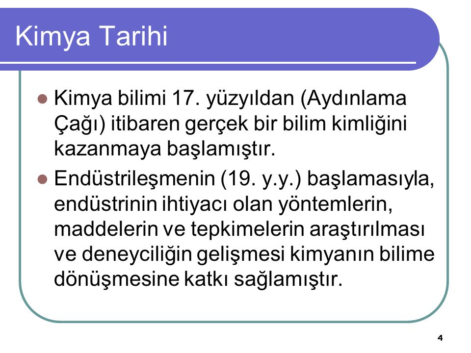 Kimya Tarihi 17., 18.ve 19.