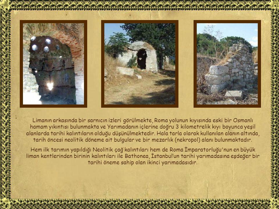 Klasik dönem kalıntıları farklı dönemlere ait iki adet ayrı liman ve kilometrelerce uzanan sahil duvarlarını içermektedir.